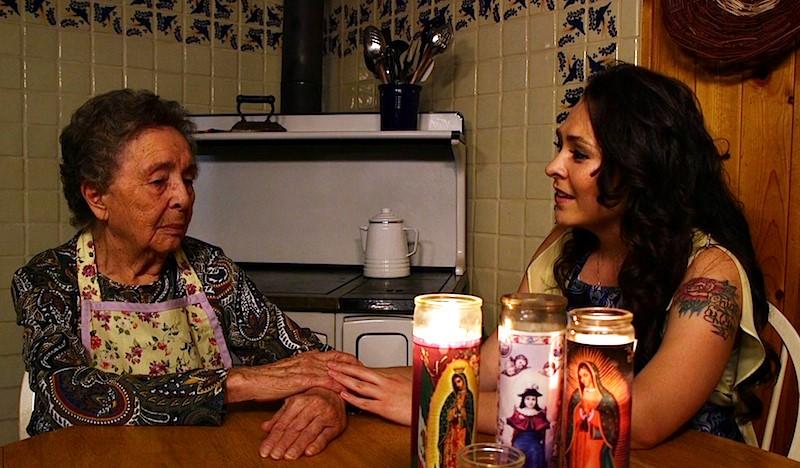 Benita Martinez and Olivia Romero in kitchen scene