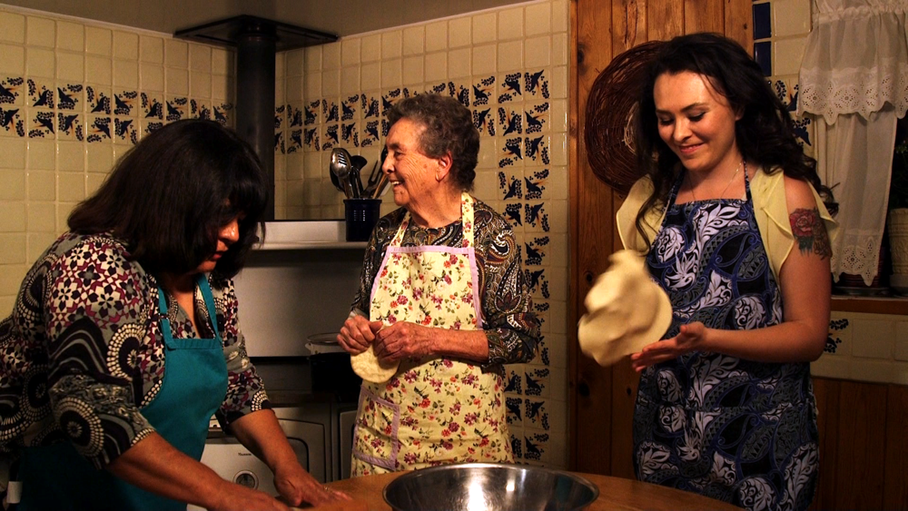 At work in the kitchen in Taos