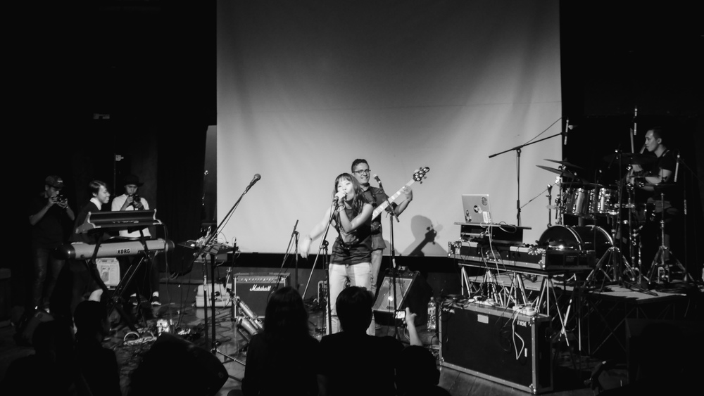 Tim and TAJ launching their EP, The Astral Journey; guest vocalist Ginny Bloop. 25 March 2015, The Substation.