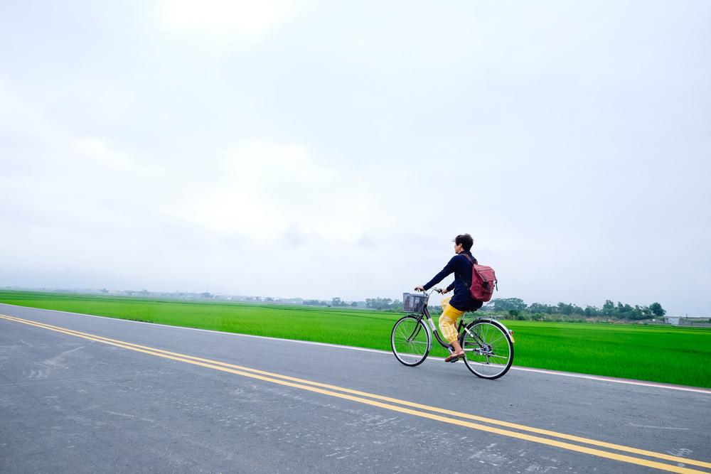 Cycling down Mr Brown Boulevard