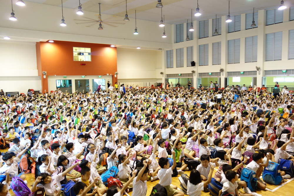 Nicola at Yu Neng Primary School on International Friendship Day. Photo copyright Nicola Anthony.
