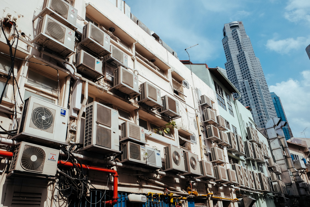 """What of the turbines that cool Singapore's numerous shopping malls and homes? """"Too hot to sleep without air-con!"""""""