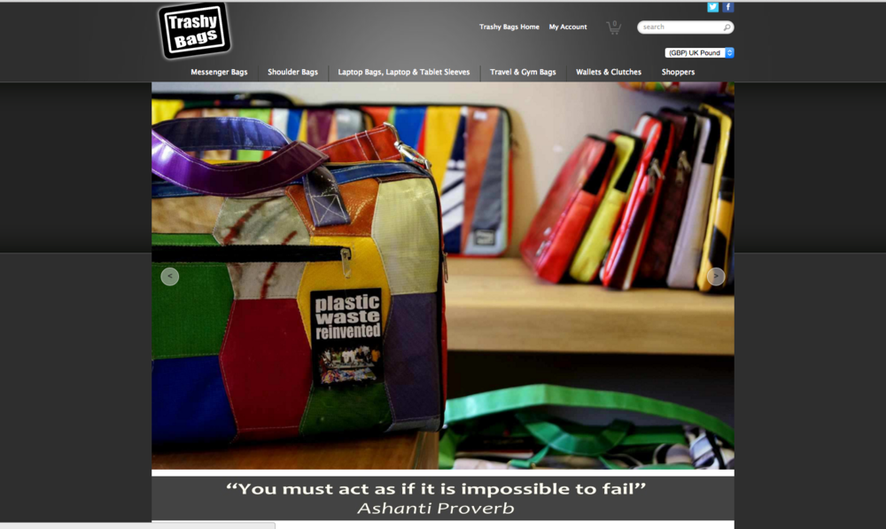 Screenshot:Trashy Bags website.