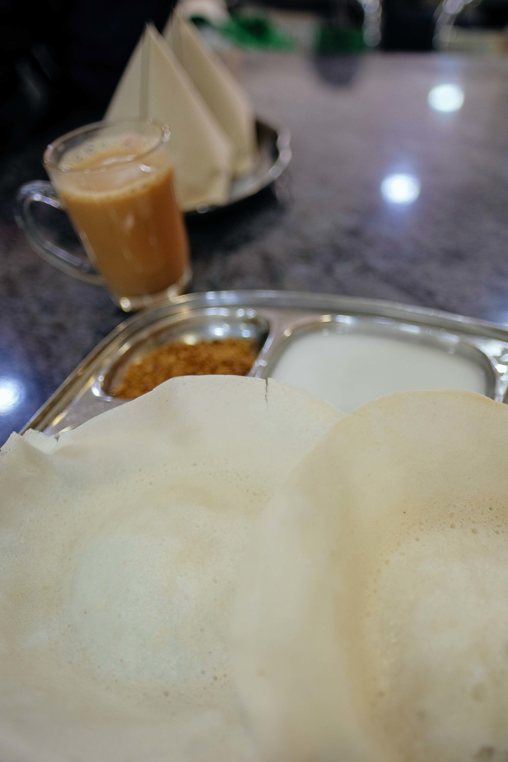 The glorious appam at Restaurant Muthu