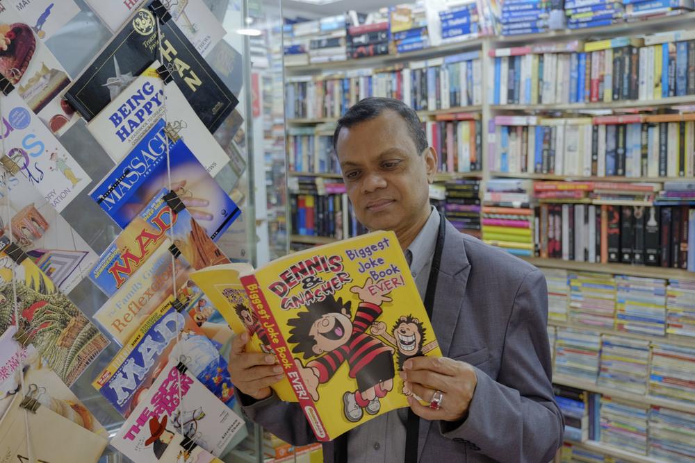Mr Mohd Noorul Islam, who runs ANA Bookstore