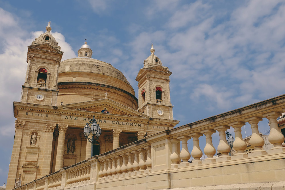 One of the 379 churches that dot the island of Malta.