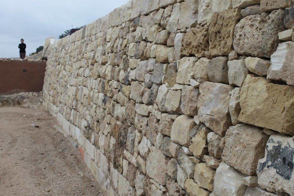 A restored boundary wall. Photo courtesy of Simon Buttigieg