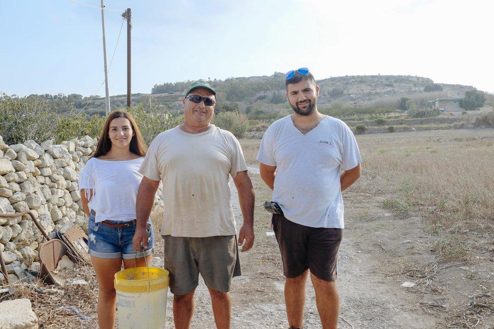 The Bartolo family on their farm.