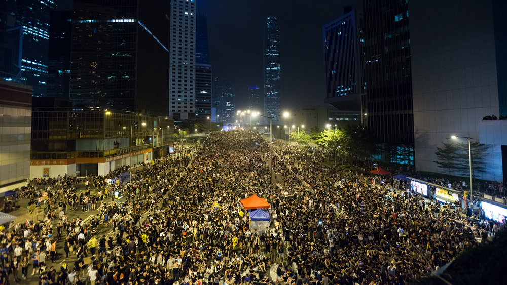 Photo credit: Thomas Tan, Occupy Central, Admiralty, 2014. CC2.0