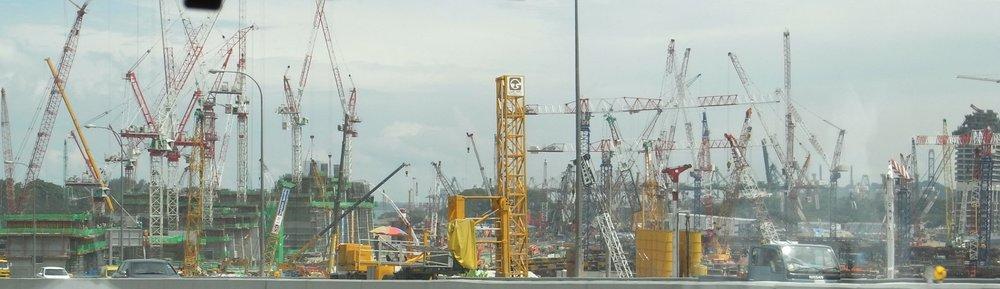 Photo Credit:Gordon Wrigley. Construction of Marina Bay Sands, Singapore. 2008. CC2.0