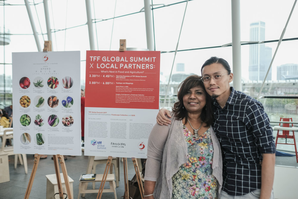 Photo: 26 May 2017, ArtScience Museum: Lita (left) and Steve Chua at the Tastings and Mappings event held with Foodscape Collective as part of the TFF (Thought For Food) Summit 2017. Credit: Marc Nair.