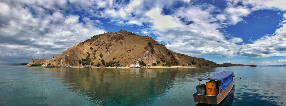 Sebayur Island, our home for two nights.