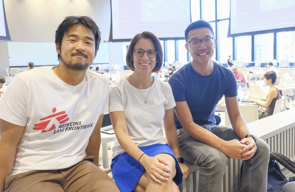 Photo: Carolyn Oei - L to R: Lim Chin Siah, Veronica Ventura, Alvin Teo.