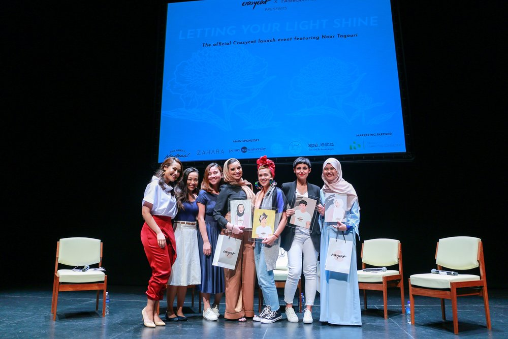 Photo: Crazycat. Left to right: Crazycat ladies - Sarah Bagharib, Cheryl Guzman Ng, Hannah Kamsadi - Noor Tagouri, Aarika Lee, Anita Kapoor, Aida Azlin.