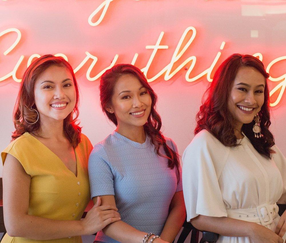 Photo: Crazycat. Left to right - Hannah Kamsadi, Cheryl Guzman Ng, Sarah Bagharib.