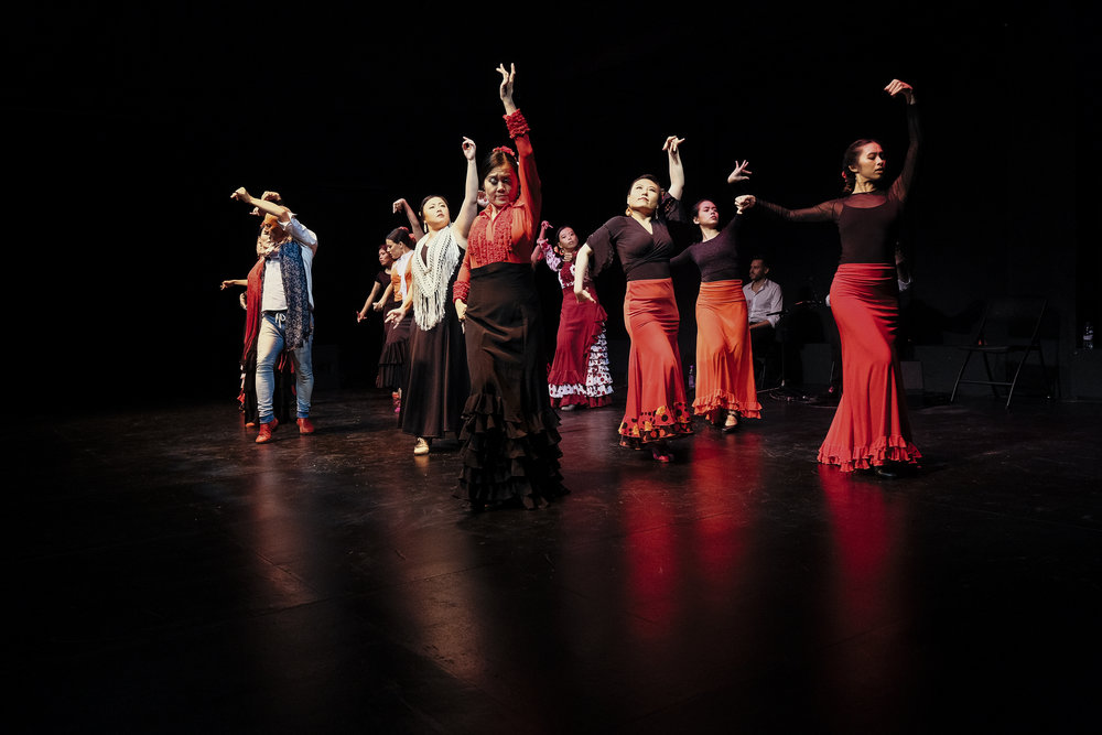 Manuel Betanzos, Tania Goh and her dancers performing at Espacio Propio (Flamenco Appreciation Night) on 24 June 2018 at the Esplanade - Theatres On The Bay. Photo: Marc Nair