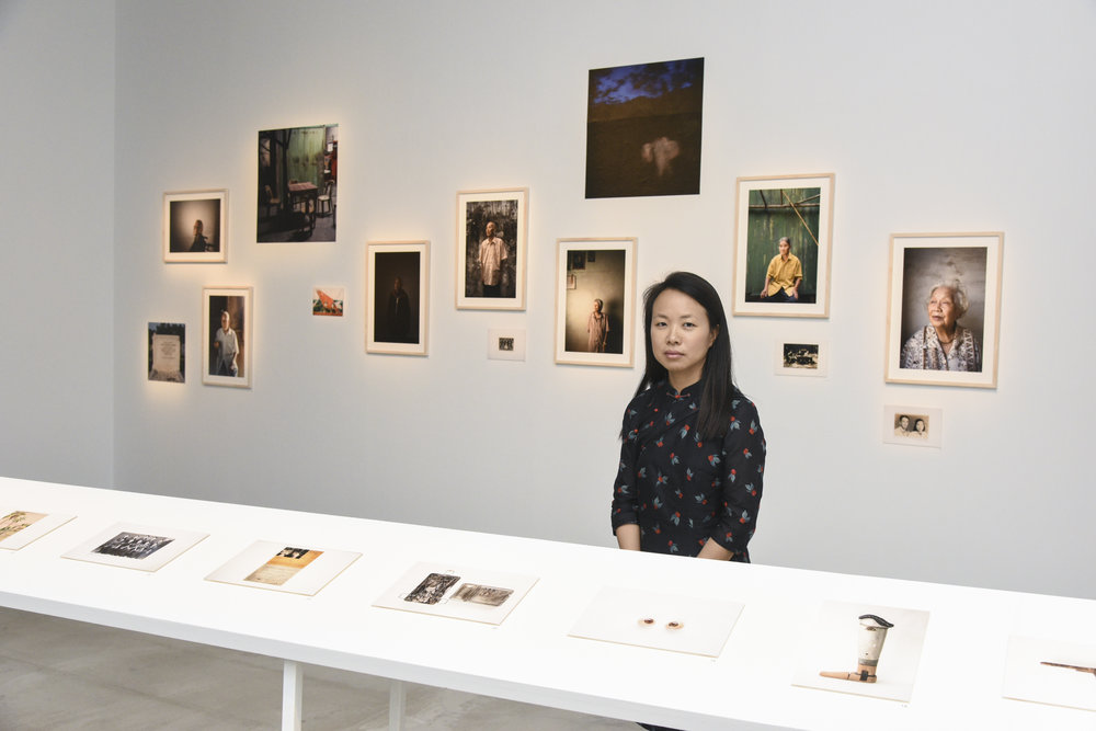 "Chi Yin at her ""Relics"" exhibition, 19 Jan - 1 Apr 2018 at the Esplanade. Photo credit Sim Chi Yin."