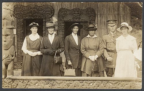 George and Ella (far left) with Ella's mother and sister. (Supplied)
