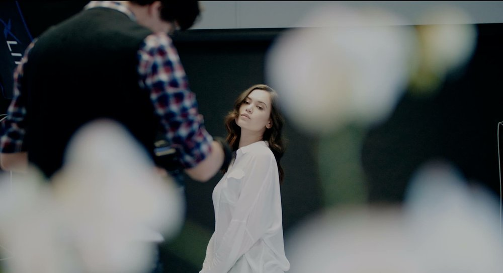 BTS shot of Sophie posing for me during my Workshop Video