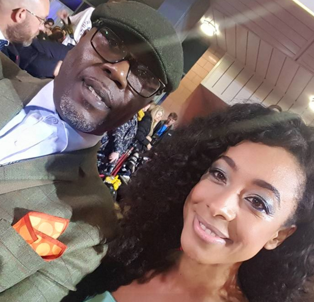ROY JOHNSON AND CORRINE BAILEY RAE AT THE MOBOS IN HUXLEY GREEN CAP