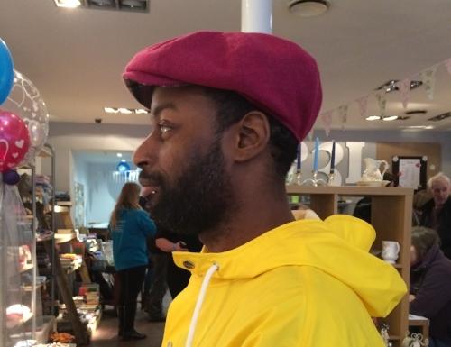Made in Leeds presenter Ben wearing our Hot Pink Baker Boy Cap