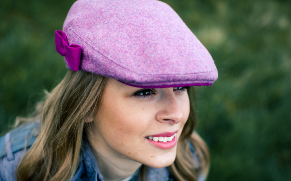 Pink Bow Bronte Ladies Cap