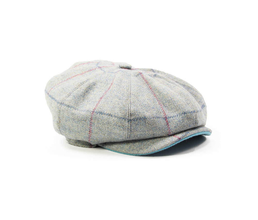 BUTTERFLY BLUE KIDS BAKER BOY CAP. light blue childrens tweed Yorkshire  baker boy peaky blinders British made Kempadoo Millar 023bc3384e37