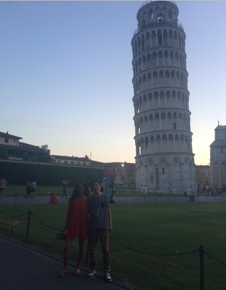 Rhian & Tiago in Pisa