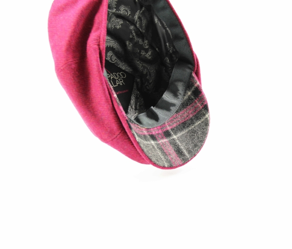 48efa89d KIDS MALLOW HOT PINK BAKER BOY CAP. pink wool childrens tweed baker boy  Yorkshire baker boy peaky blinders British made Kempadoo Millar