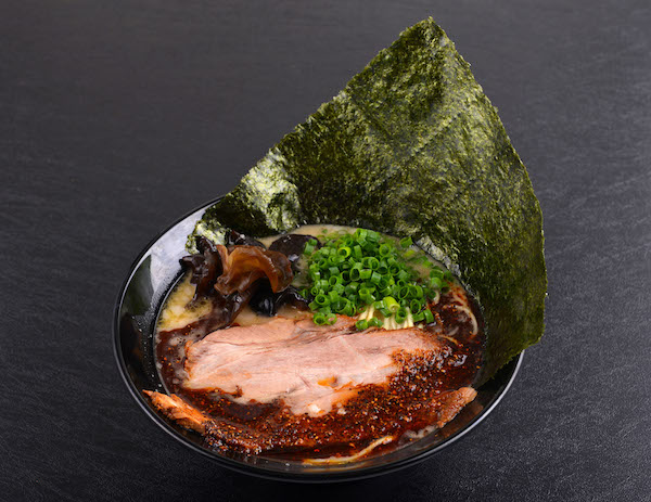 Black Spicy Tonkotsu Ramen with Japanese Seaweed ($12.90)