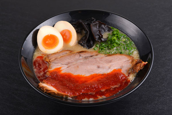 Red Spicy Tonkotsu Ramen with Flavoured Egg ($13.90)