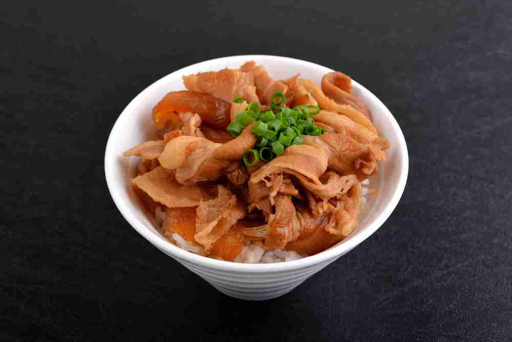 BUTA MESHI (Pork SUKIYAKI on Rice) ($6.50)
