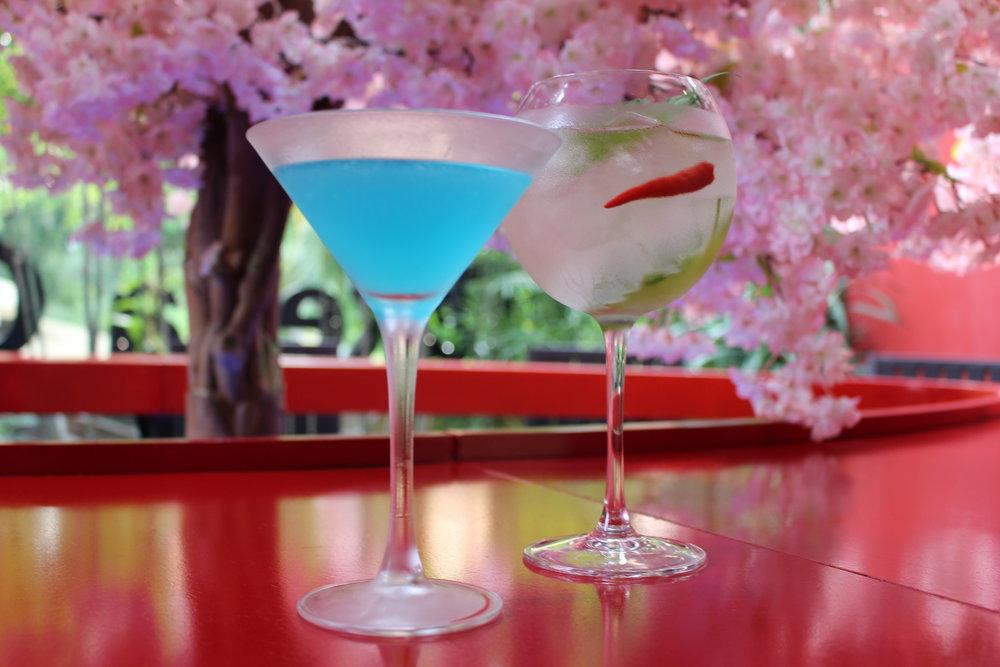 SAMURAI Blue (Sake, Blue Curacao, Lime Juice).JPG