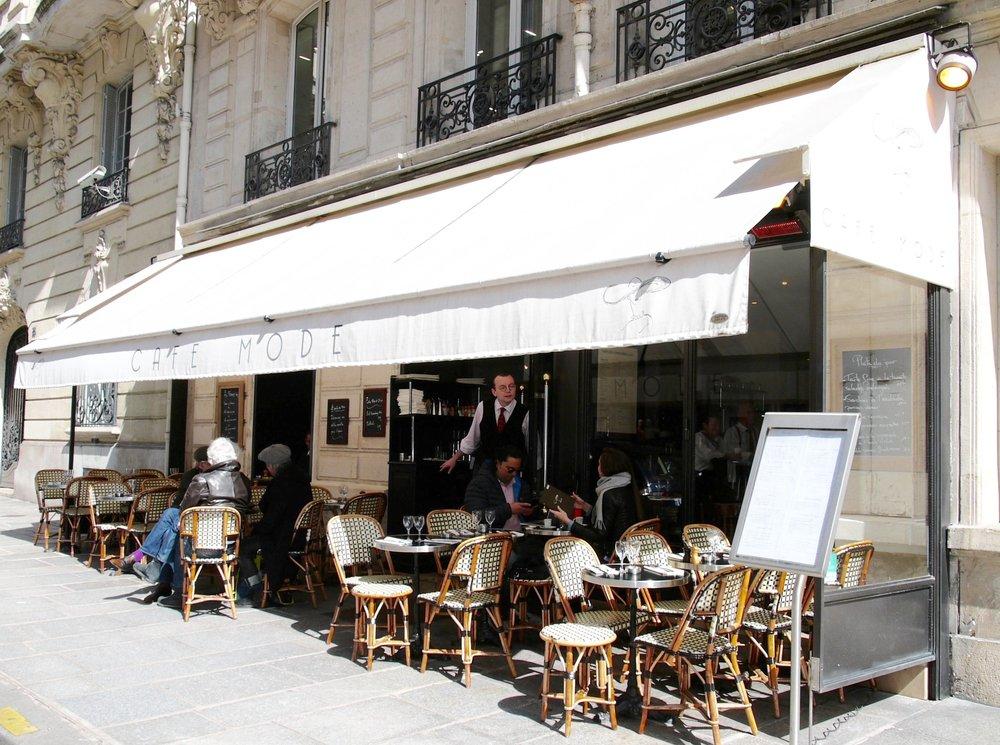 Café Mode Paris devanture