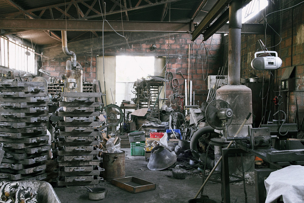 At the foundry...