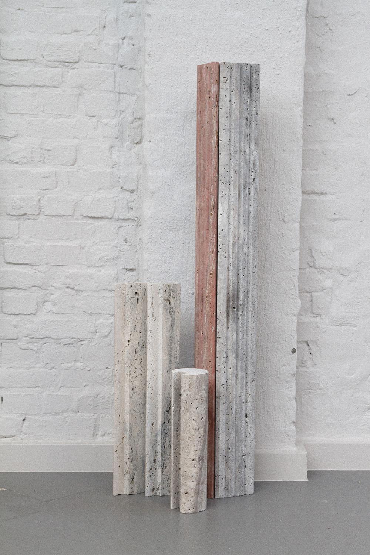 In progress: collaboration with Van den Weghe / travertine profiles.