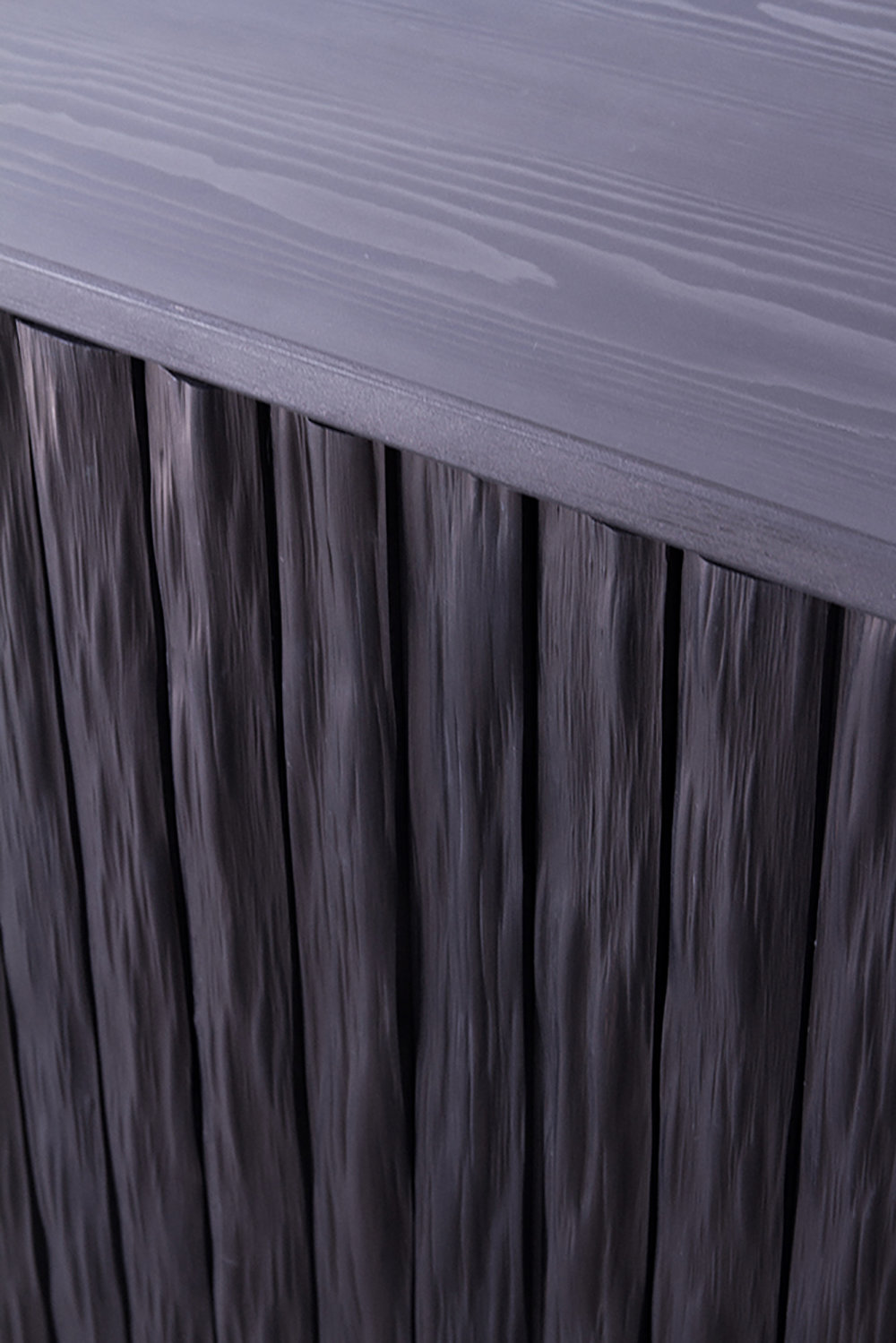 Detail of sideboard in blackened Kitayama cedar.