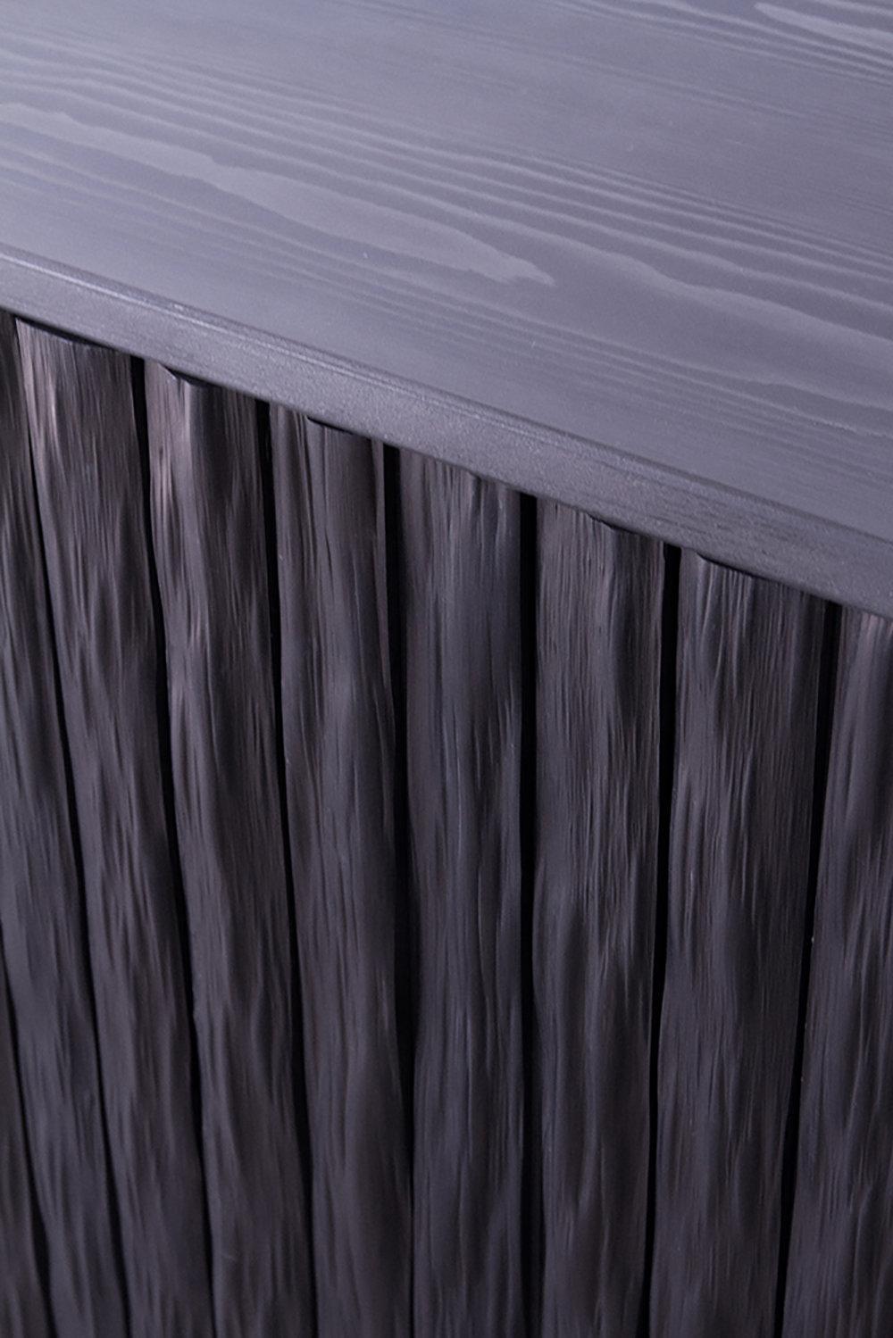 Detail of sideboard in blackened Kitayama cedar.