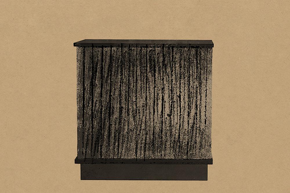 Our Kitayama buffet in AD Collections until April 2nd in Musée d'Art Moderne de Paris. Drawing by Aurore de la Morinerie.