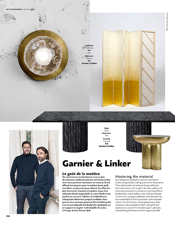 Garnier&Linker portrait in the latest AD Collector.
