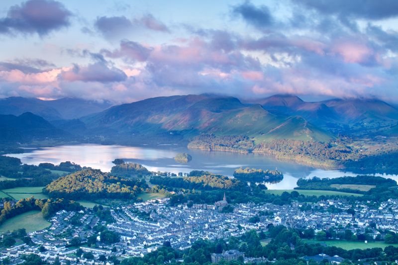 Dappled Dawn Over Keswick, Lake District