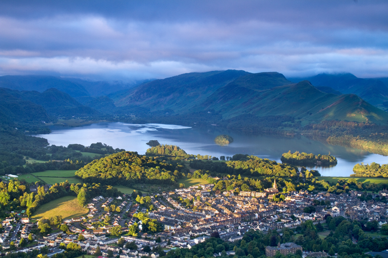 Dawn Reaches Keswick, Lake District