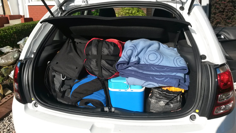 Packed Car for Ardnamurchan