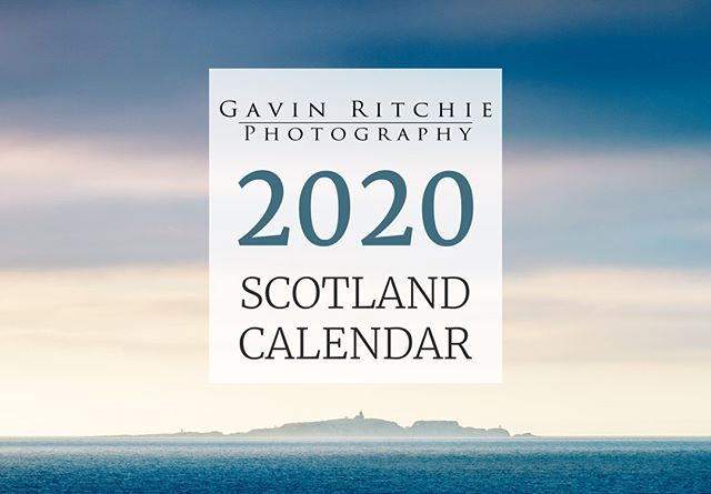 The 2020 Gavin Ritchie Photography Calendar is finally here!  This year the pages of my calendar are adorned by 12 of my finest photos of the last year. Taking a predominantly East Coast flavour this year in light of my move to Perthshire.  Along with a fresh new cover design, every page features a full A4 image with a space below to write your appointments and reminders.  As ever this calendar is the perfect gift idea for friends and family at home or abroad!  Get yours now from www.gavinritchie.co.uk/shop/2020calendar