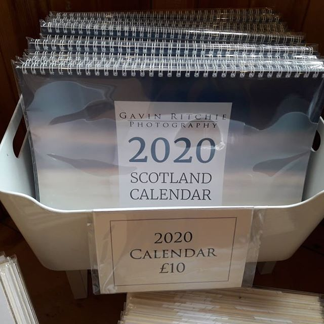Back at Mugdock Makkers Art and Craft Gallery today bringing my brand new 2020 Calendar along with me! You can now pop in any time between 11-5, 7 days a week and get yours!  www.gavinritchie.co.uk