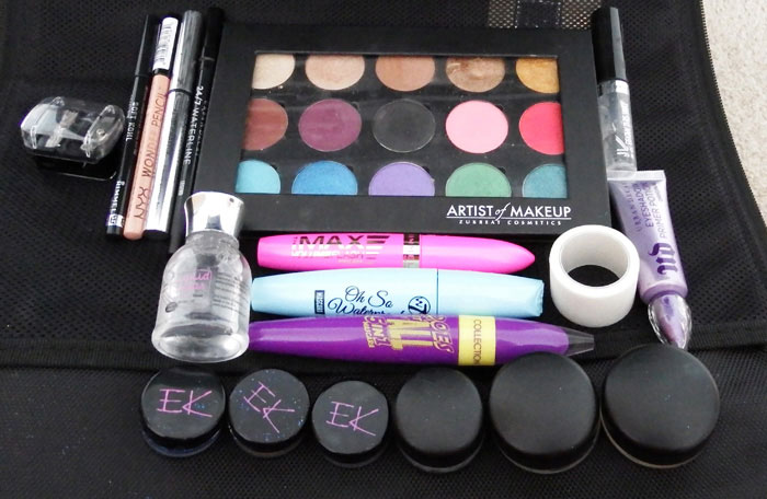Eyeshadows Mascaras Glitter Primer Gel Liner
