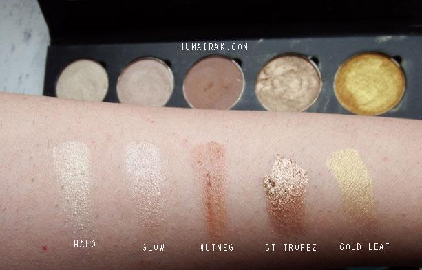 Artist of Makeup Row 1 Swatches | Humairak.com