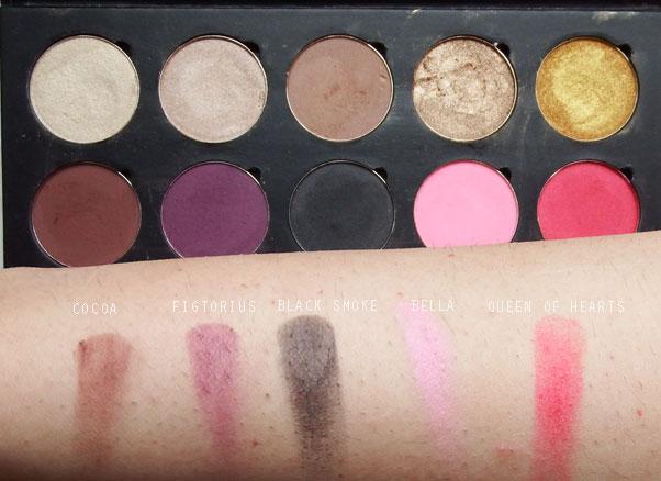 Artist of Makeup Row 2 Swatches | Humairak.com