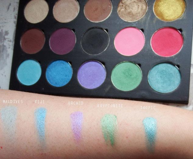 Artist of Makeup Row 3 Swatches | Humairak.com