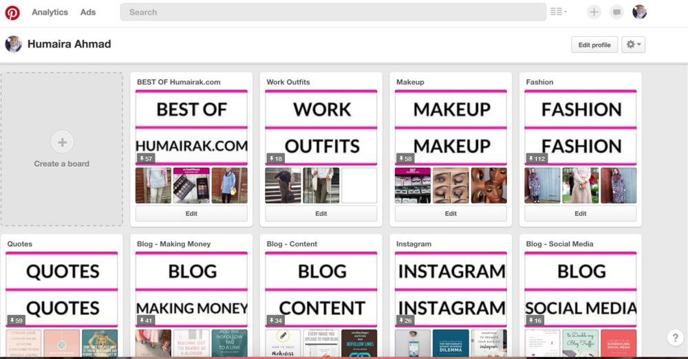Pinterest Board Branding   Humairak.com
